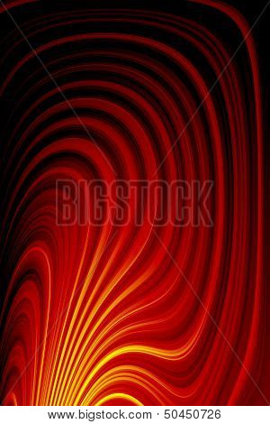 Abstract Glow Twist Background With Fire Flow