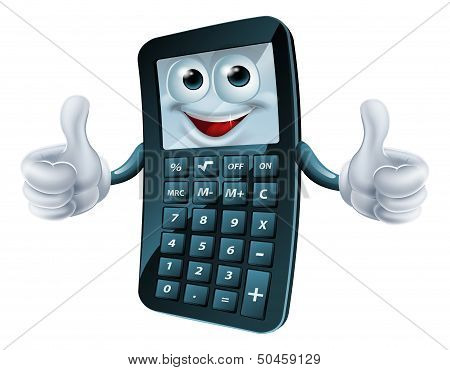 Cartoon Calculator Man
