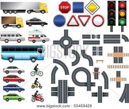 Road Map Toolkit Big Vector Set