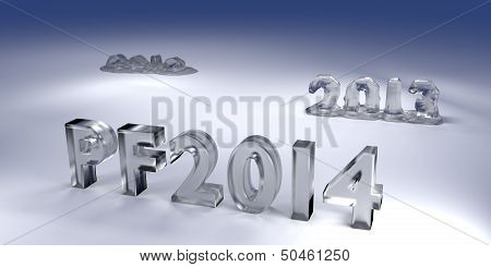 3D Melted Icy Text Pf 2014