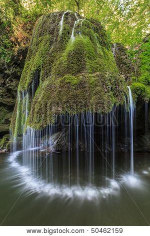Bigar Cascade Falls In Nera Beusnita Gorges National Park, Romania.