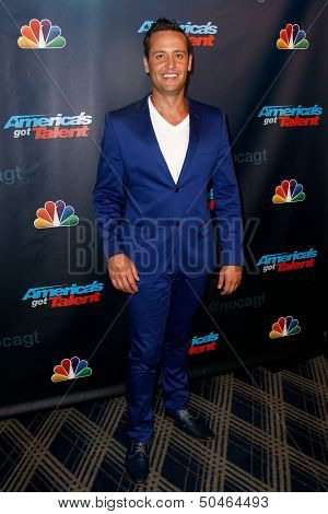 NEW YORK-SEP 4: Singer Branden James attends the post-show red carpet for NBC's