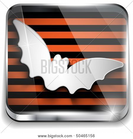 Halloween Bat Icon Button Application