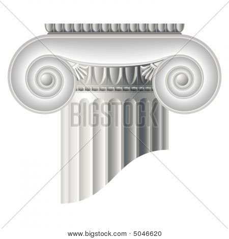 Ionic Column. Vector.