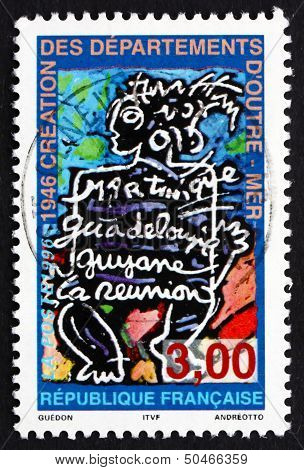 Postage Stamp France 1996 French Overseas Departments