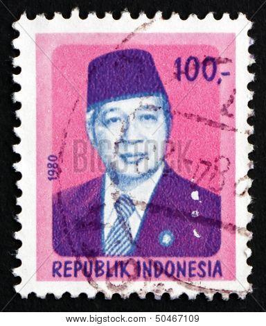 Postage Stamp Indonesia 1980 President Suharto