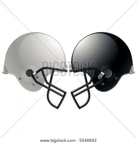 Football Helmets. Vector.