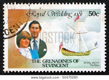 Postage Stamp St. Vincent Grenadines 1980 Giant Toad, Amphibian