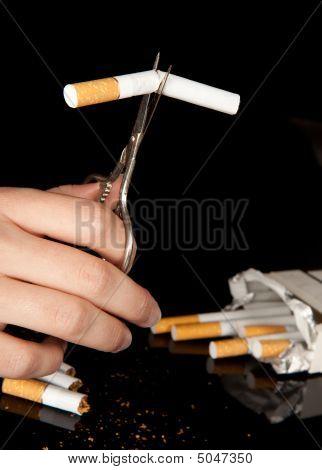 Cutting A Cigarette