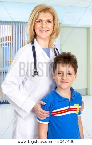 Family Medical Doctor And A Child