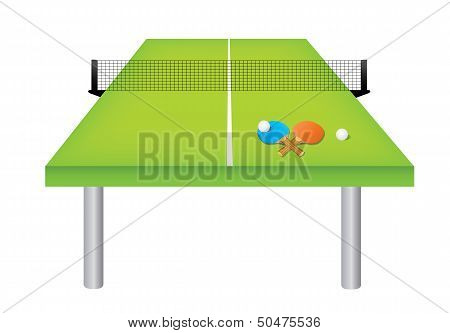 Table tennis table and equipment