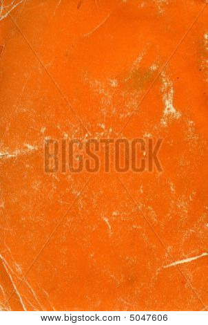 Orange Book Cover As A Texture