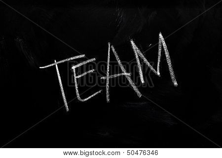 Team On Chalkboard
