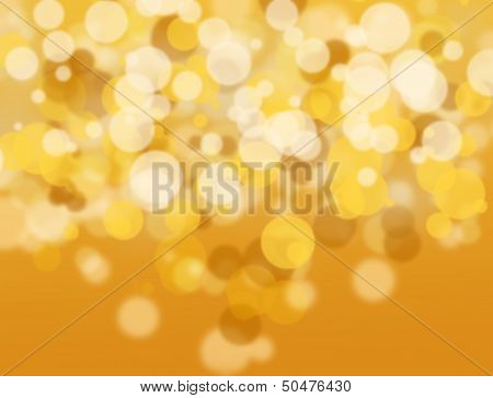 Golden And White Bokeh.
