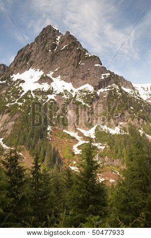 Fire Road Overlooks Sperry Peak North Cascade Mountain Range