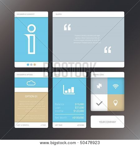 Fresh vector illustration minimal infographic flat ui design elements