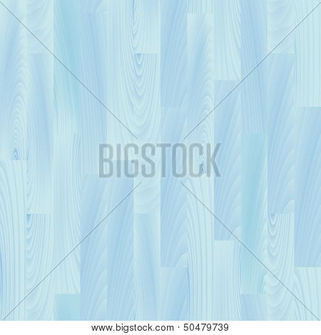 Realistic pastel blue wooden floor seamless pattern, vector