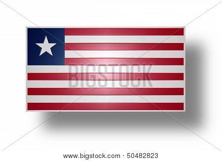 Flag Of Liberia (stylized I).