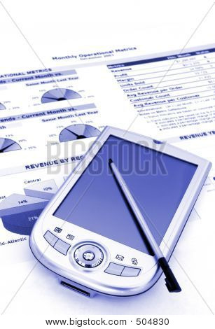 Business Reports And Charts With Pda