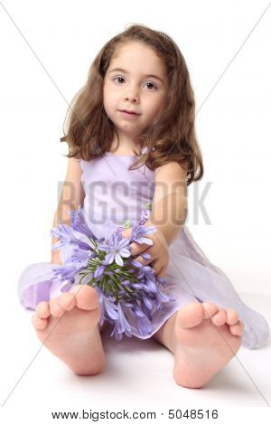 Toddler Girl With Flowers