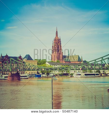 Retro Look Frankfurt Cathedral
