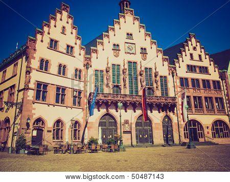 Retro Look Frankfurt City Hall