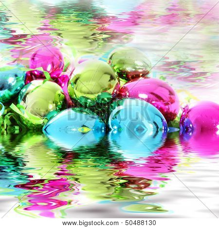 Christmas Decorations In Water