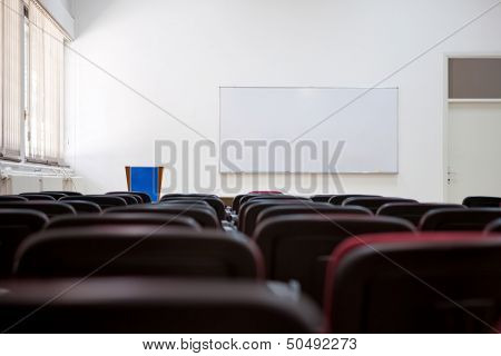 Empty lecture room of university