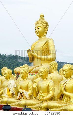 Buddha Status At Temple