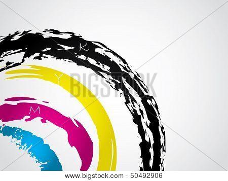 Cmyk Splatter Background