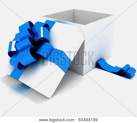 Open gift box. 3d illustration on a white.