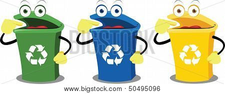 Funny Recycling Boxes