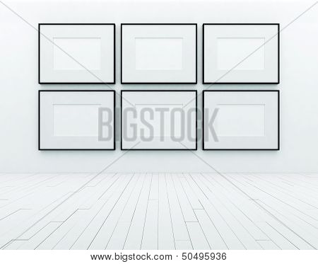 blank picture frame on a wall