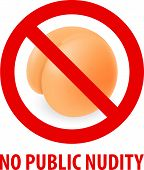 picture of nudism  - Stop sign nudism - JPG
