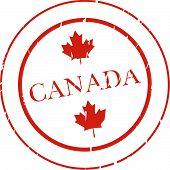 Постер, плакат: Канада штамп