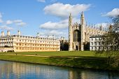 stock photo of chapels  - Nice view of Kings College Chapel in Cambridge UK - JPG