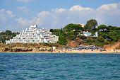 stock photo of vilamoura  - Beach Oura Albufeira Algarve Portugal summer sea - JPG