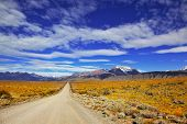 image of pampa  - The road in the desert - JPG