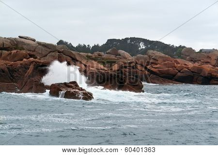 Pink Granite Coast Near Seven Islands