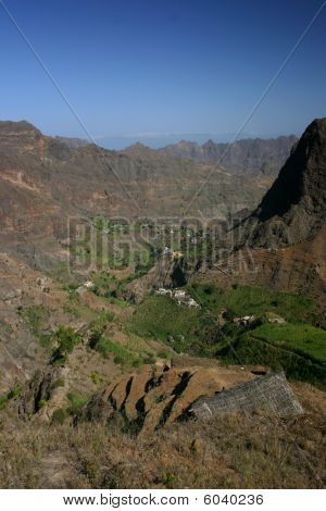In the mountains of Cape verde