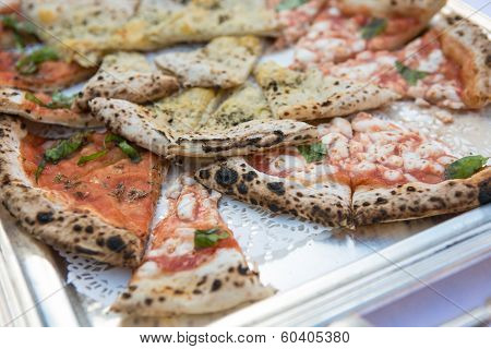 Italian Pizza With Chees And Olives On A Table