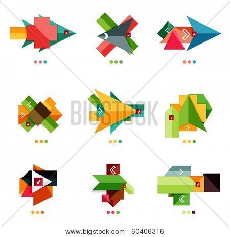 Arrow business geometric stickers for business background | numbered banners | business lines | graphic website. Raster version