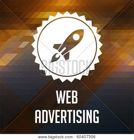 Web Advertising Concept on Triangle Background.