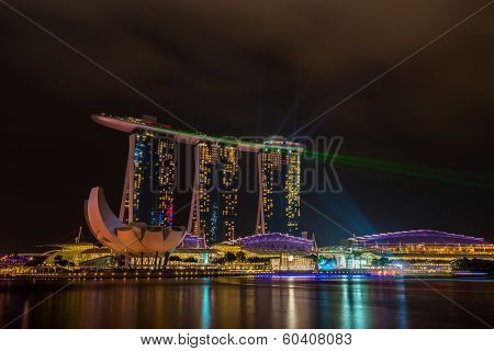 Nightscape of Singapore Marina Bay Sand