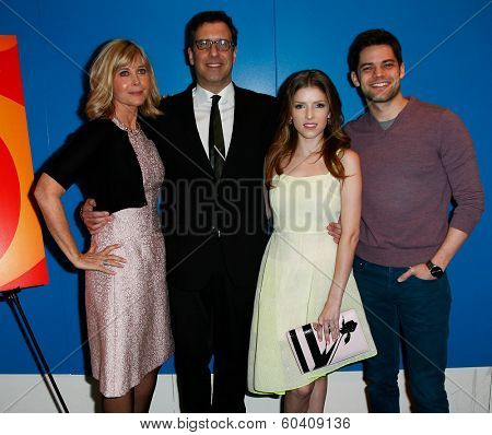 NEW YORK-FEB 24: (L-R) Lauren Versal, Richard LaGravenese, Anna Kendrick, Jeremy Jordan attend the screening of