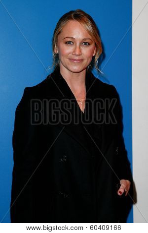 NEW YORK-FEB 24: Actress Christine Taylor attends the screening of