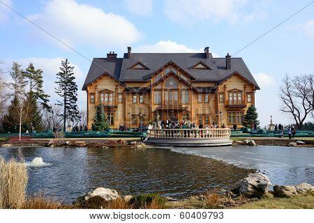 KIEV, UKRAINE - February 24, 2014: Mejigirya - residence of the ex president Yanukovich, now open for all