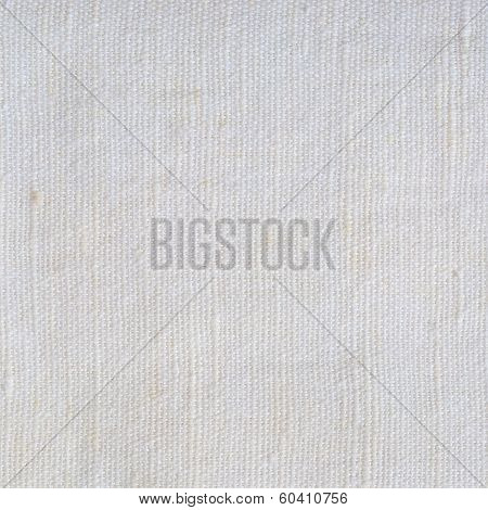Natural Bright White Flax Fiber Linen Texture, Detailed Macro Closeup, Rustic Crumpled Vintage