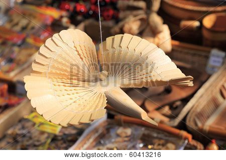 KRASNODAR, RUSSIA - SEPTEMBER 28 - Russian wooden carved bird, Krasnodar city day on 28, September i