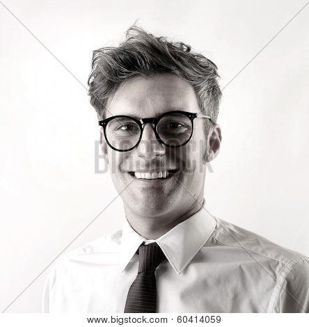 b/w businessman